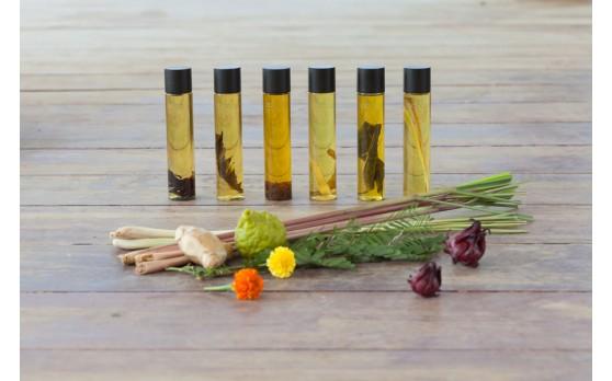 สามารถนำอาโรมาออยล์กลับไปได้1อย่าง(Tamarind,Hibiscus,Marigolds,Lamongrass and Citronella, Lime and Kaffir Lime , Plai and Ginger)
