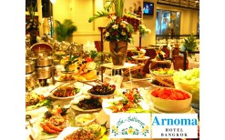 "Only 250BHT! For you to enjoy with your mother with the delicious lunch international buffet from over 80 menus at a very cheap price at the classy food hall, ""The Butter Cup"" @ Arnoma Hotel Bangkok (from the price of 580BHT)"