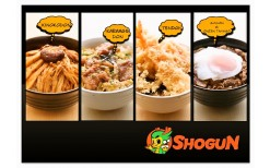 "Special price only B145 ! Come by and enjoy the delicious ""Shogun  Donburi"" Japanese-style food which its unique flavor reflects the unique style of the superstar owner, ""Pae Arrak"", at ""Shogun Donburi"" – BTS (skytrain) Victory Monument station"
