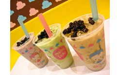 """Only 50 Baht !!!  wow !! for  quench you thirst and  escate the heat with a cool chewing tea shake  from  original Tai Wan, giving tender touch for your tongue, there are various choices of tastes available for you to enjoy it at """"Hana Ichi"""" @ Siam ( from"""