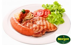 very special! 239 Baht- you can enjoy German- Thai style set menu such as Rice with BBQ Grilled chicken & hot basil leaves , fried egg + BBQ chicken steak, sausage, soup, salad and soft drink ( full price is 480 Baht) @ Morgen Casual Restaurant Espanade R