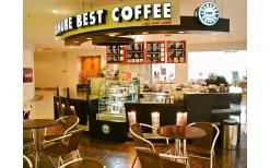 """コーヒーチェーン""""Danube Coffee""""にて。200バーツ分利用可能なクーポンを99バーツで販売。"""